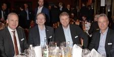 Stefan Herrlich und Rolf Koenzen v Lancom Systems mit Markus Korn v Samsung Electronics u Henning Heimann v Stemmer GmbH